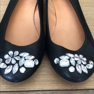 JCrew Leather Black Flats size: 8.5